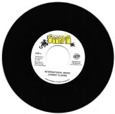 SALE ITEM - Johnny Clarke - International Music / version (Black Scorpio / TRS) EU 7""